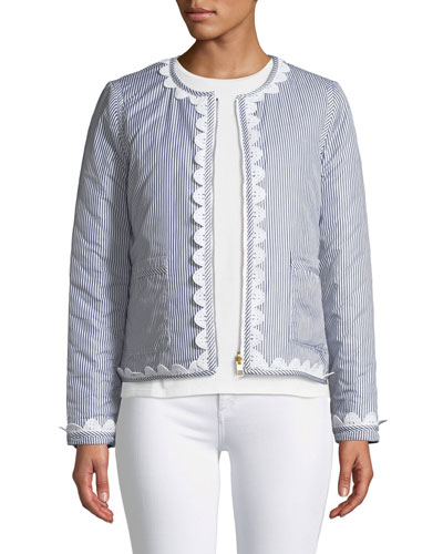 Petra Long-Sleeve Zip-Front Reversible Jacket w/ Patch Pockets