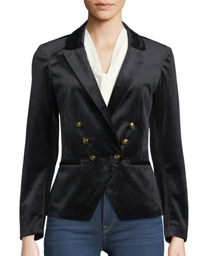 8464574d Quick Look. Cupcakes and Cashmere · Belisma Velveteen Double-Breasted Blazer