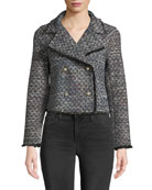 Cupcakes and Cashmere Annica Cropped Tweed Jacket