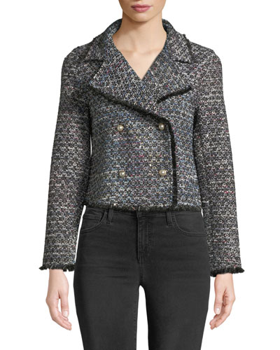 Annica Cropped Tweed Jacket