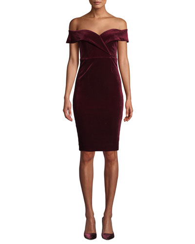 Bella Velvet Sweetheart Cocktail Dress