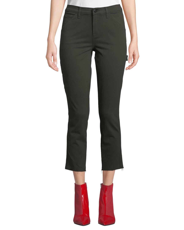 Ruby Crop Skinny Painter Jeans In Ivy Vine