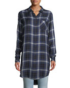 Rails Bianca Oversized Plaid Button-Down Shirt