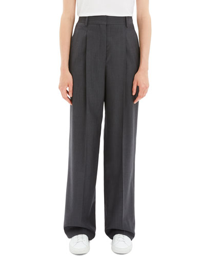 8e8cdb4ed9cb2 Quick Look. Theory · Pleated Wool Wide-Leg Trousers