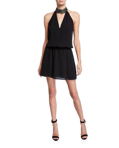 Raelyn Embellished Halter Short Dress