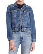 Citizens of Humanity Nica Slim Cropped Denim Jacket