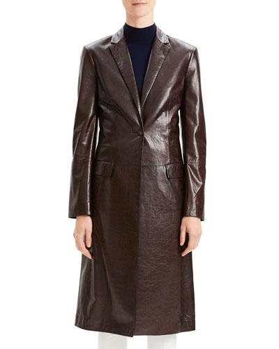 742fe6cb7891 Long Sleeves Flap Coat