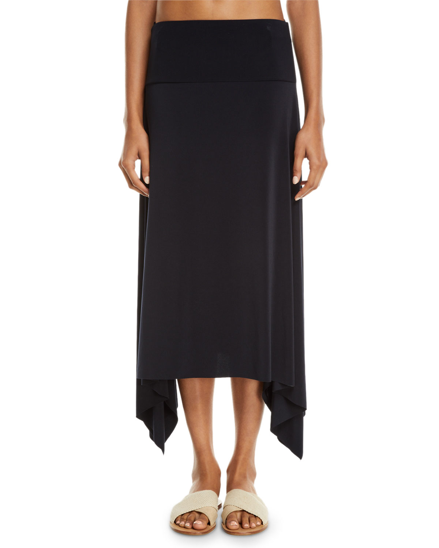 Jersey Handkerchief Coverup Skirt