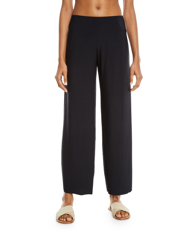 Cabana Jersey Straight-Leg Coverup Pants