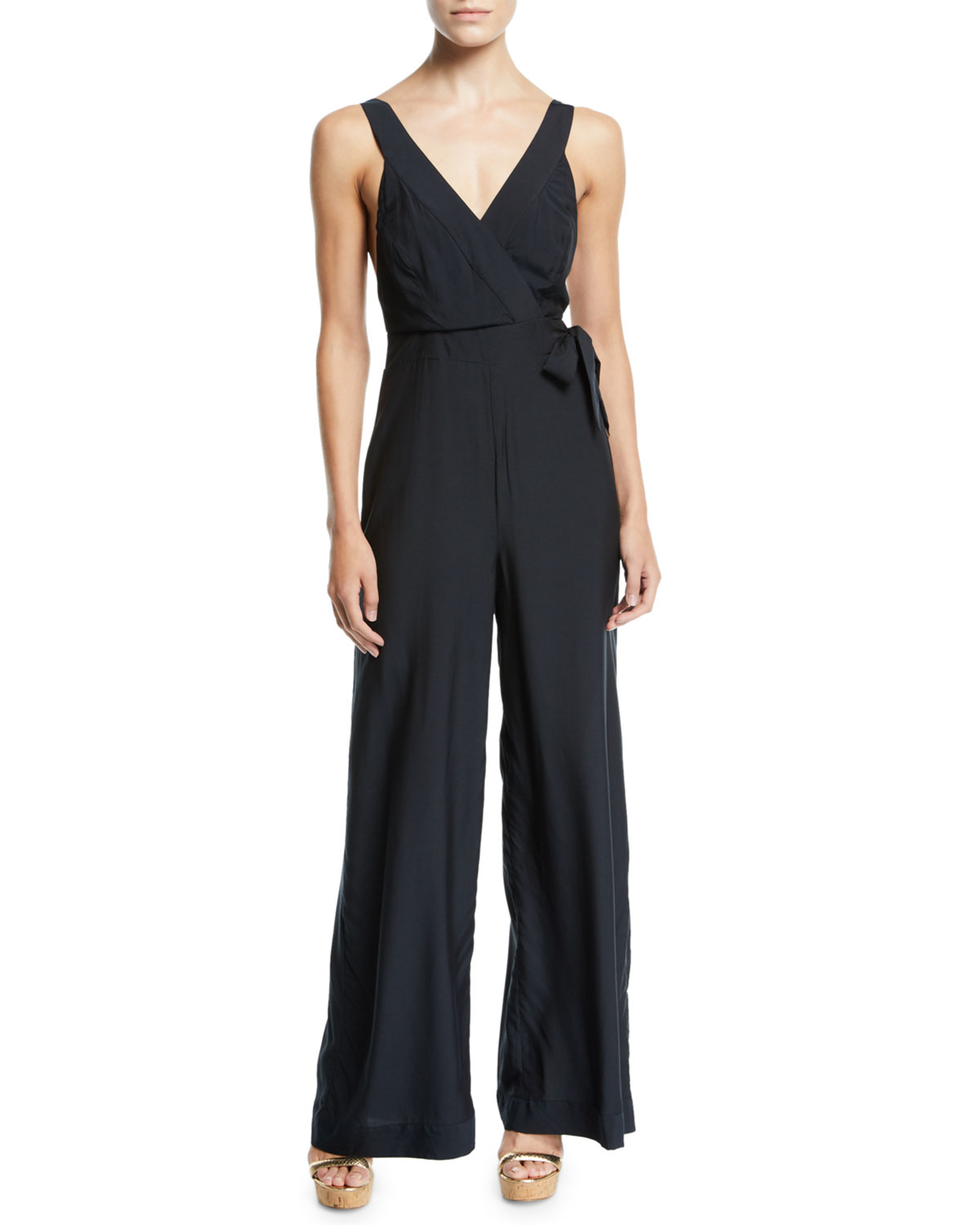 JETS BY JESSIKA ALLEN Jess Gomes Sleeveless Coverup Jumpsuit in Black