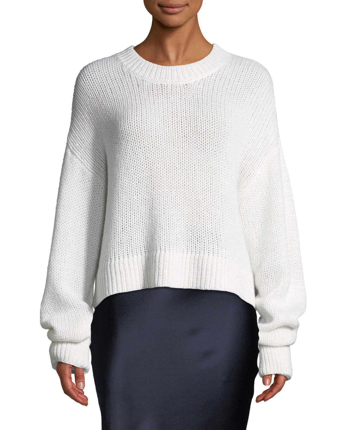SABLYN Mercy Cashmere Pullover Sweater in White