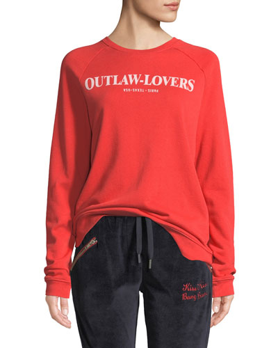 Outlaw-Lovers Graphic Pullover Sweatshirt