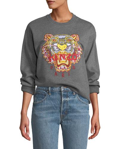 1b46a60b Quick Look. Kenzo · Dragon Tiger Logo Crewneck Pullover Sweatshirt