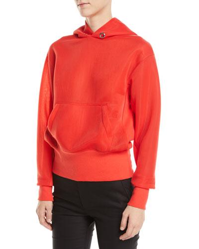 Sheer-Sleeves Standard Hoodie