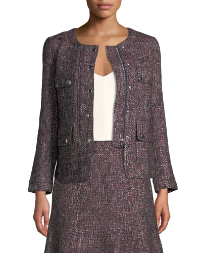 Shaylene Tweed Zip-Front Jacket