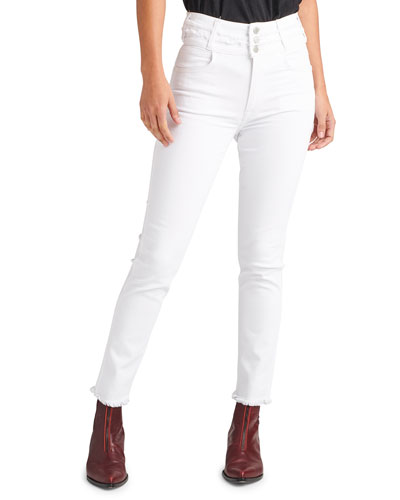 Holly High-Rise Crop Skinny Jeans with Stacked Waistband