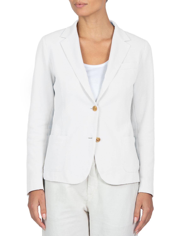 Stretch-Cotton Blazer Jacket