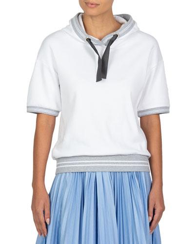 Short-Sleeve Cotton Hoodie