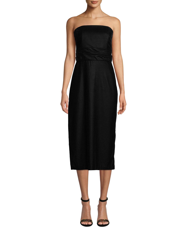 Roxford Strapless Velvet Dress