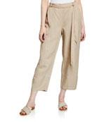 Eileen Fisher Tencel� Linen Tie-Waist Lantern Pants
