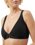 Heidi Klein Body V-Neck Solid Bikini Swim Top
