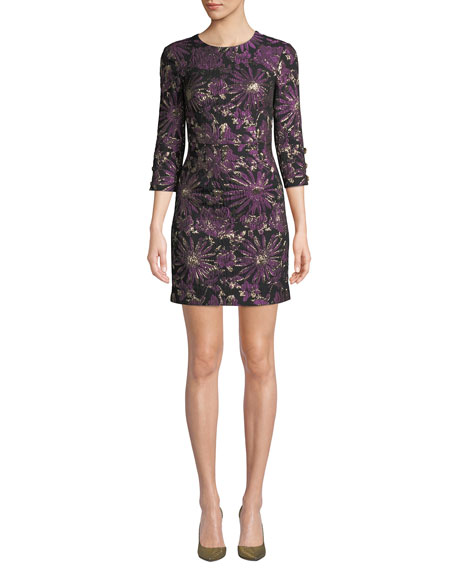 Trina Turk Moonrise Jacquard Mini Dress