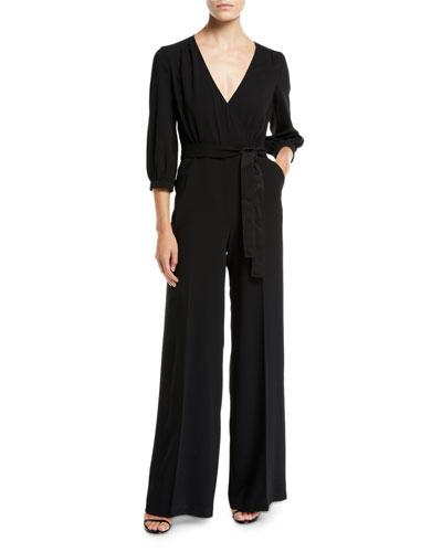 f8ee0bed4541 Black V Neckline Jumpsuit
