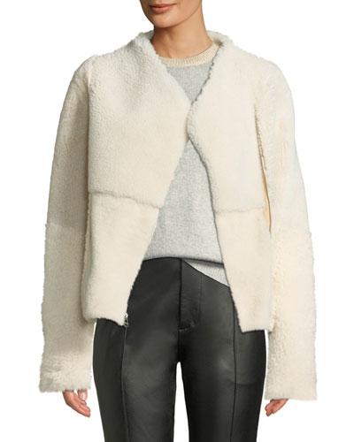 Asymmetric Shearling Fur Jacket