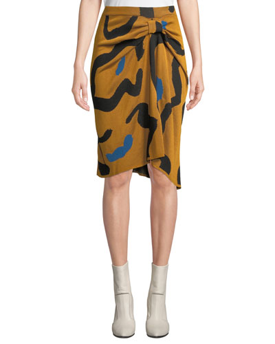e79a0ee5aa Quick Look. Christian Wijnants · Kazu Draped Leopard-Print Jacquard Sweater  Skirt