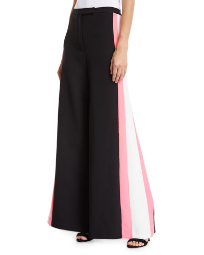 63ed32674d2e Quick Look. Milly · Wide-Leg Italian Cady Track Pant ...