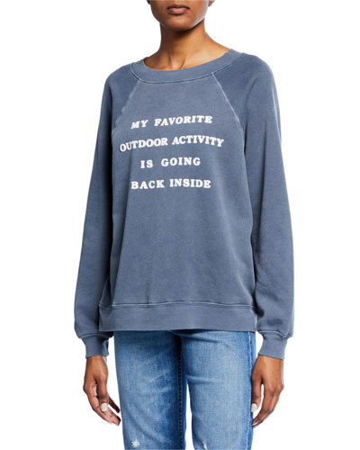 Going Back Inside Raglan Pullover Sweater