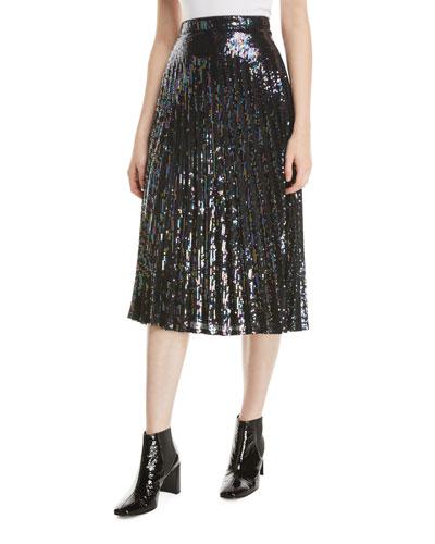 42d79d95e Quick Look. Parker · Citrine Sequined High-Waist Midi Skirt