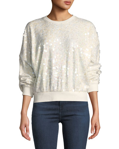 Coby Sequined Crewneck Sweatshirt