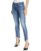 7 for all mankind Mid-Rise Twisted Ankle Skinny
