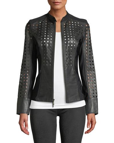deee8dc01 Long Sleeves Motorcycle Jacket | Neiman Marcus