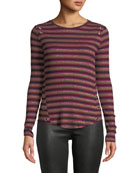 Generation Love Gilly Striped Metallic Long-Sleeve Top with