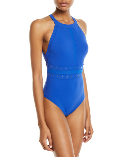 80bdf3119a56e Quick Look. Shan · So Sexy Studded High-Neck One-Piece Swimsuit