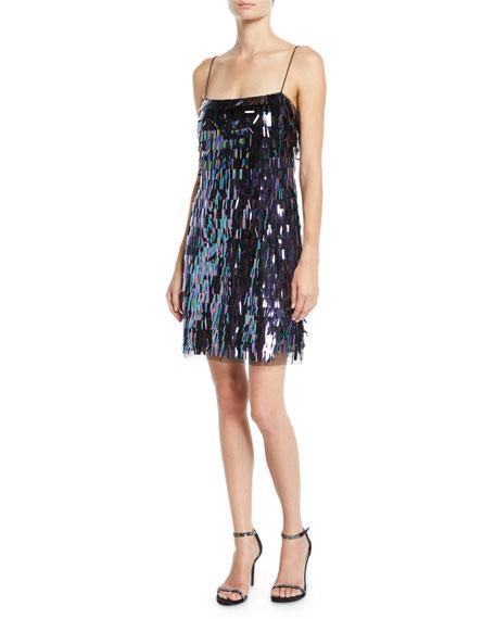 Aidan by Aidan Mattox Sequin Flapper Mini Dress