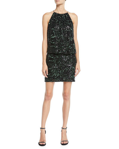 13bde7904bb1d Quick Look. Aidan Mattox · Beaded Blouson Halter Mini Dress