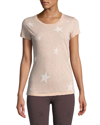 Star-Print Cotton Boy Tee