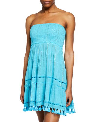 86c22e9ca7 Quick Look. Ramy Brook · Smocked-Bodice Strapless Dress