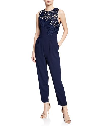 67def56378a Blue Polyester Jumpsuit