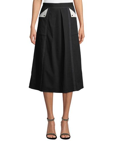 A-Line Cargo Skirt