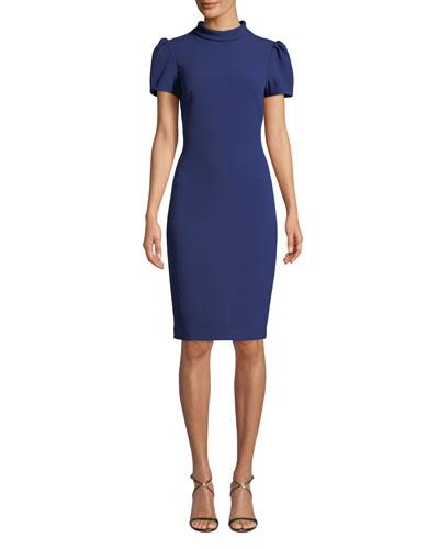 a00d526cbc69 3 4-sleeve Princess Seams Dress