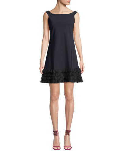 Rigmor 3D-Hem Scoop-Neck Dress
