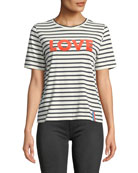 Kule The Modern Love Striped Crewneck Tee
