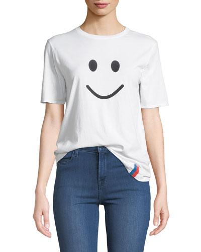 The Modern Smile Graphic Crewneck Tee
