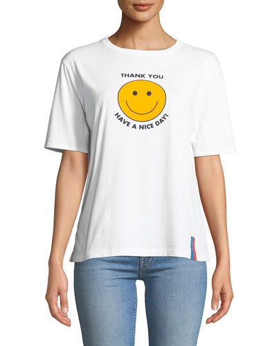 Have a Nice Day Graphic Crewneck Tee