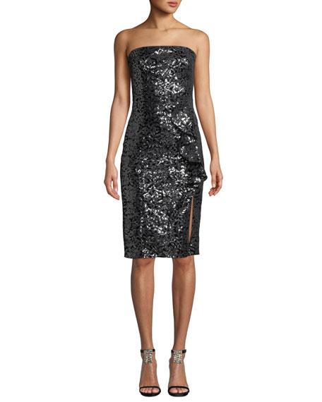 Parker Black Noelle Strapless Sequin Dress