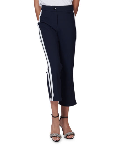 Marlin Racer-Stripe Cropped Trousers